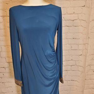 Marina turquoise glitter dress